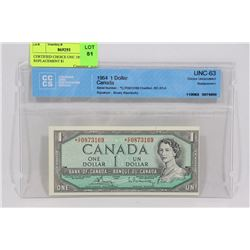 CERTIFIED CHOICE UNC 1954 C/F REPLACEMENT $1