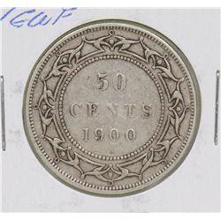 NEWFOUNDLAND 1900 QUEEN VICTORIA 50 CENT COIN