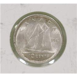 1942 GVI 10 CENT COIN