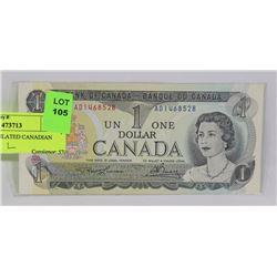1973 UNCIRCULATED CANADIAN DOLLAR.