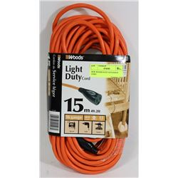 NEW WOODS 49.2FT EXTENSION CORD
