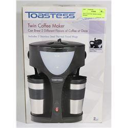 NEW TOASTESS TWIN COFFEE MAKER