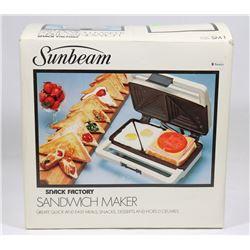SUNBEAM SANDWICH MAKER