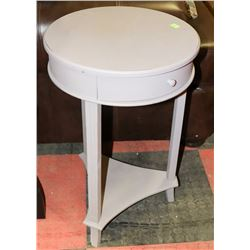 GREY END TABLE WITH DRAWER. FURNITURE