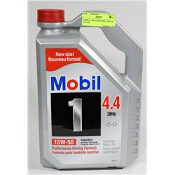 MOBILE 15W-50 SYNTHETIC MOTOR OIL 4.4L