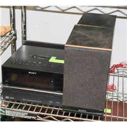SONY CD PLAYER / RECIEVER WITH 2 SPEAKERS, MP3
