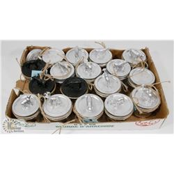 BOX OF DECORATED MASON JARS