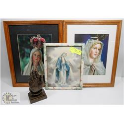 SET OF 3 HOLY MOTHER MARY PRINTS