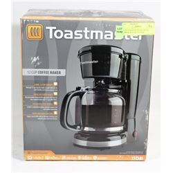 TOASTMASTER 12 CUP COFFEE MAKER BLACK(UNUSED)
