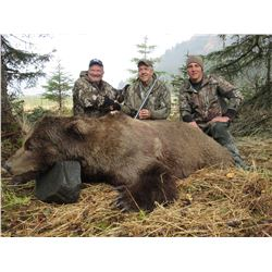 MIKE ODIN'S ALASKA: 9-Day Coastal Brown Bear Hunt for One Hunter in Alaska