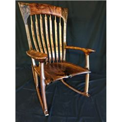 AUSTIN MESQUITE WORKS: Handcrafted Texas Mesquite Rocking Chair