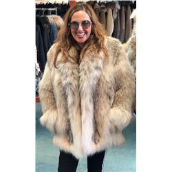 DAVID GREEN MASTER FURRIER: Ladies Natural Canadian Lynx Jacket