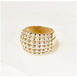 MJ MILLER: Ladies Diamond Ring Set In 18K Yellow Gold