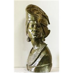 "CALL OF AFRICA: ""Lady Zimba"" - Verdite Bust by Renowned Zimbabwean Sculptor James Tandi"