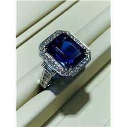 BARANOF JEWELERS: Stunning 10.50 Carat Tanzanite Ring with Brilliant White Diamonds