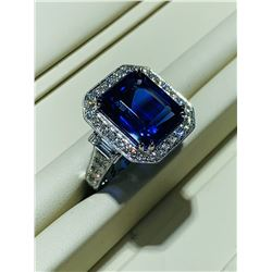 BARANOF JEWELERS: Stunning 10.50 Carat Tanzanite Ring with Brilliant White Diamonds