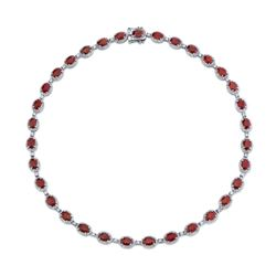 BARANOF: Natural 31.25 Carat Pigeon Blood Ruby Necklace with Diamonds