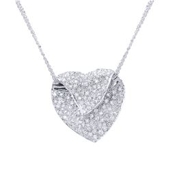 1.18 CTW Diamond Necklace 14K White Gold - REF-85M3F