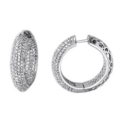 2.85 CTW Diamond Earrings 14K White Gold - REF-210R7K