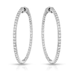 2.71 CTW Diamond Earrings 14K White Gold - REF-192K2W