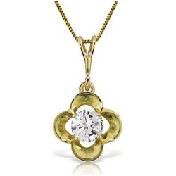 Genuine 0.50 ctw Diamond Anniversary Necklace Jewelry 14KT Yellow Gold - REF-143Y9F