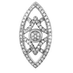 0.11 CTW Diamond Pendant 14K White Gold - REF-11R3K