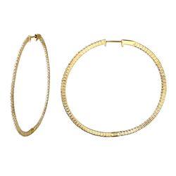 1.28 CTW Diamond Earrings 14K Yellow Gold - REF-107F2N