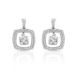 1 CTW Diamond Earrings 14K White Gold - REF-98Y2X