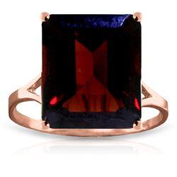 Genuine 7 ctw Garnet Ring Jewelry 14KT Rose Gold - REF-50K2V