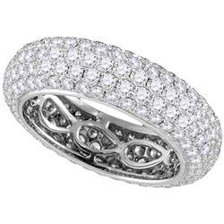3.35 CTW Pave-set Diamond Comfort Wedding Ring 14KT White Gold - REF-449N8F