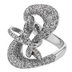 2.22 CTW Diamond Ring 14K White Gold - REF-147X3R