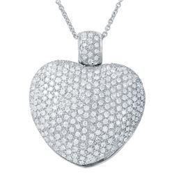5.11 CTW Diamond Necklace 18K White Gold - REF-621F9N
