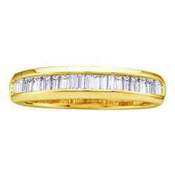 0.50 CTW Diamond Wedding Anniversary Ring 10KT Yellow Gold - REF-24N2F