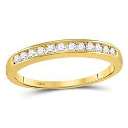 0.25 CTW Diamond Single Row Wedding Ring 14KT Yellow Gold - REF-31K4W