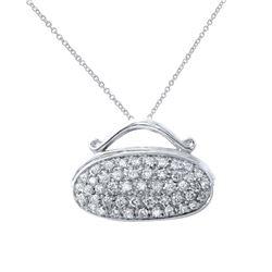1.16 CTW Diamond Necklace 14K White Gold - REF-101N4Y