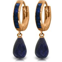 Genuine 7.8 ctw Sapphire Earrings Jewelry 14KT Rose Gold - REF-45W8Y