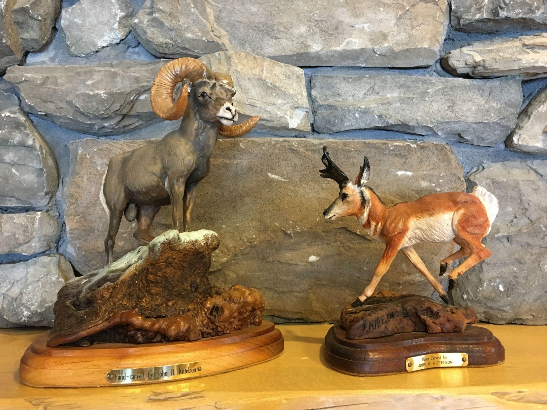 Bighorn Sheep Wood Carving