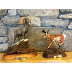 Bighorn Sheep Wood Carving