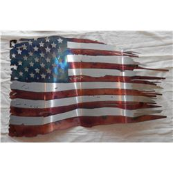 Waving Flag Metal Art