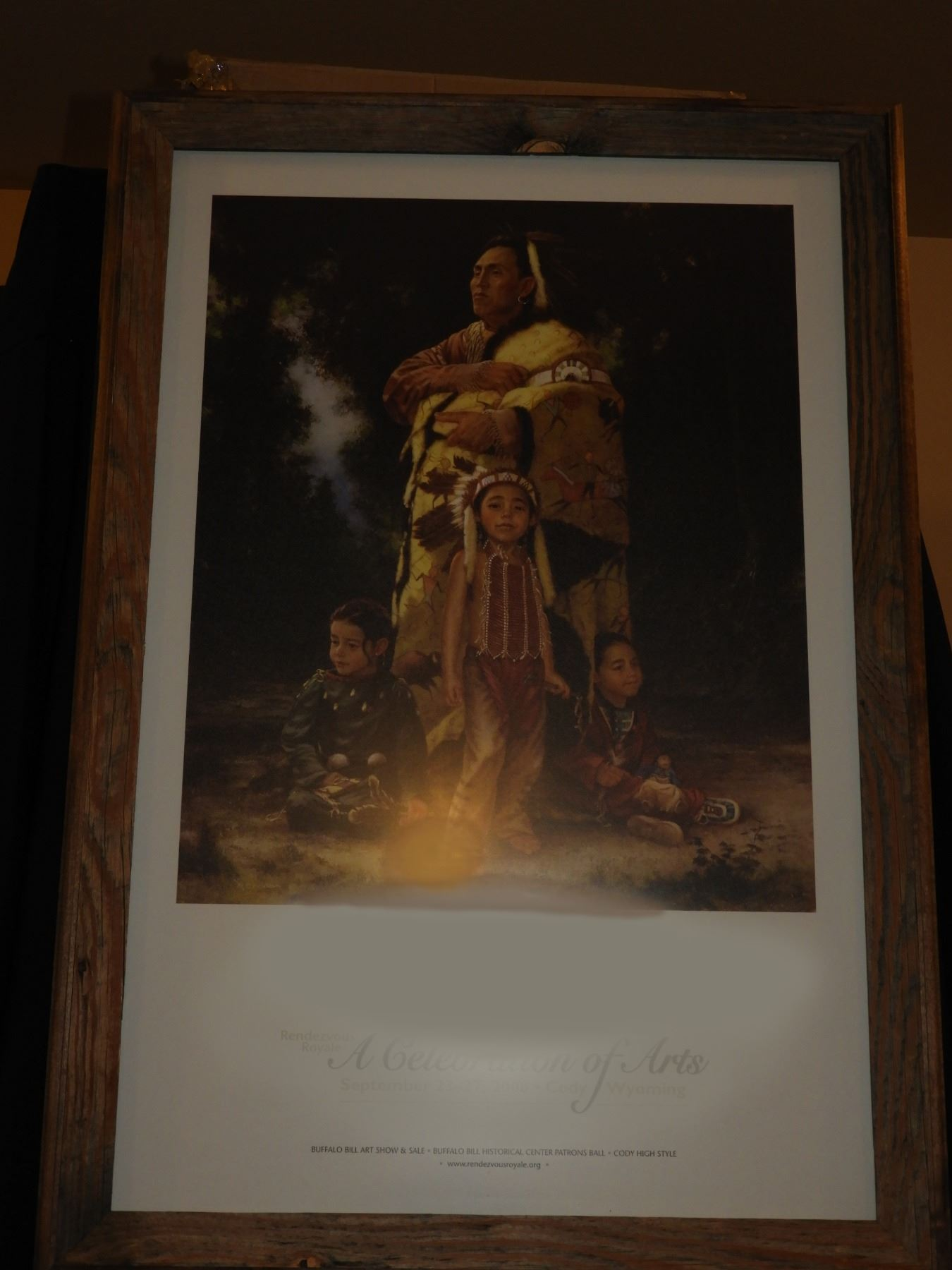 Indian Family   Framed Poster by Mike Poulsen