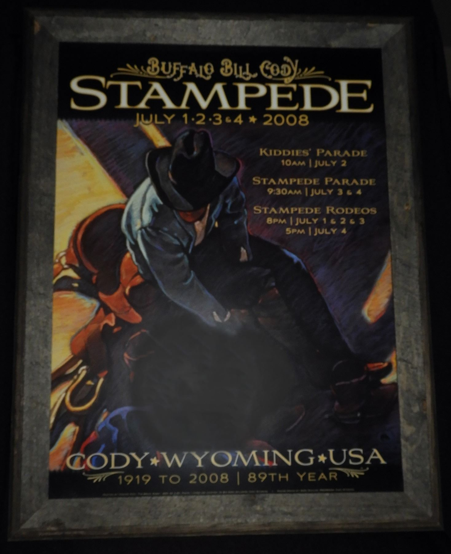 2008 Cody Night Rodeo Framed Poster