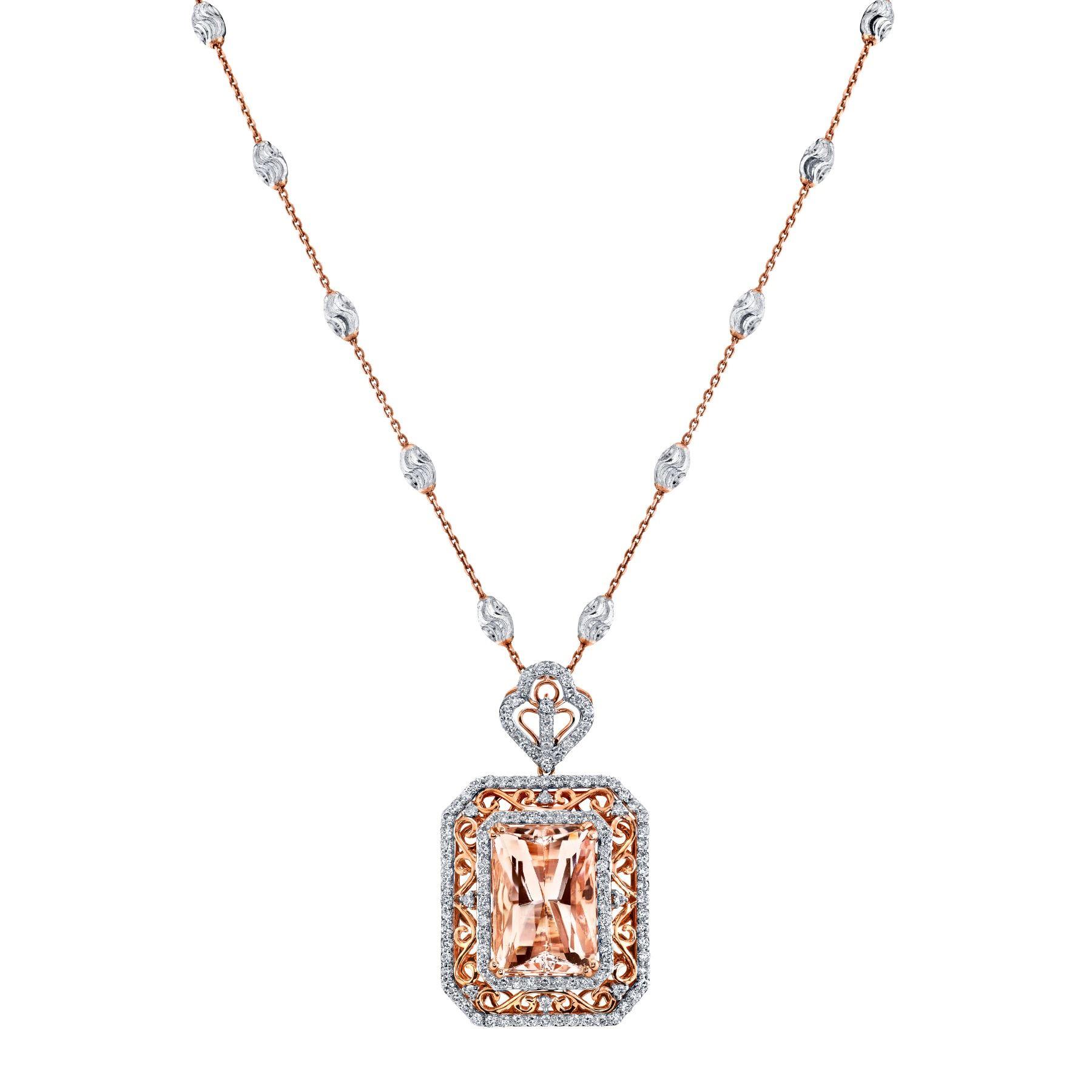 MORGANITE & DIAMOND NECKLACE BARANOF JEWELERS