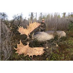 10 - DAY YUKON MOOSE HUNT FOR 1 HUNTER  TROPHY STONE OUTFITTING