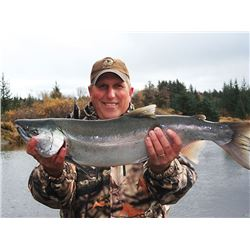 5 - DAY SILVER SALMON FISHING TRIP FOR 4 ANGLERS ALASKA WILDERNESS ENTERPRISES