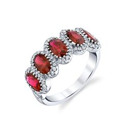 NATURAL PIGEON BLOOD RUBY & DIAMOND RING BARANOF JEWELERS
