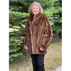 FEMALE DEMI-BUFF MINK JACKET PAPARAZZI FUR