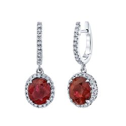 RUBY AND DIAMOND EARRINGS BARANOF JEWELERS