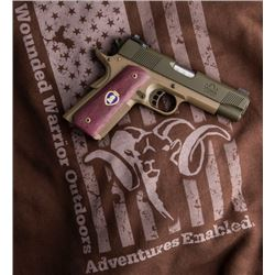 WWO PURPLE HEART SERIAL #1 1911 PISTOL BY REPUBLIC FORGE  WOUNDED WARRIOR OUTDOORS