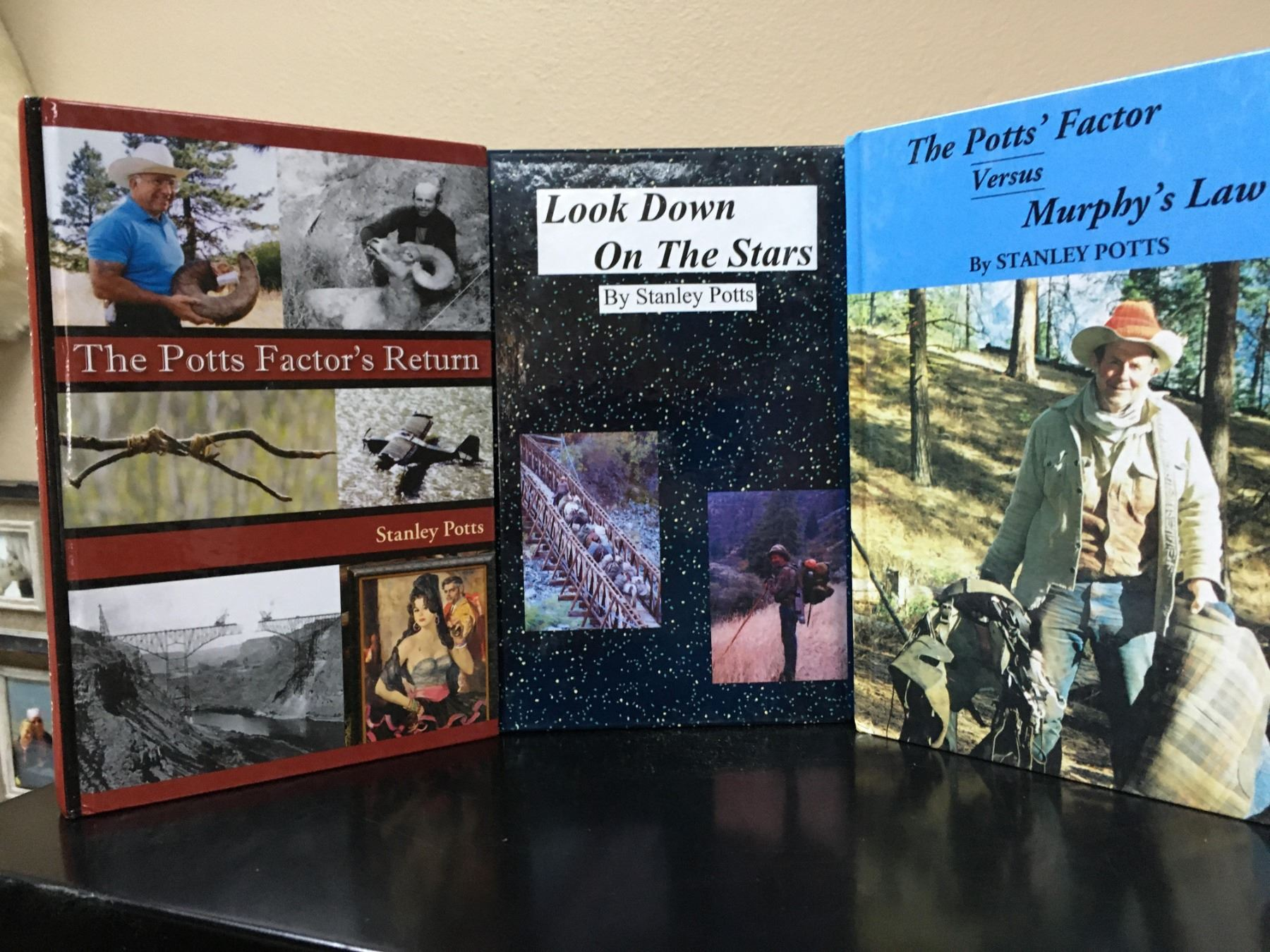 3 Hardcover Books by Stanley Potts