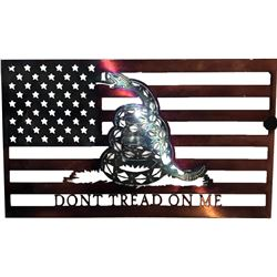 DON'T TREAD ON ME FLAG - METAL ART THE WET NOSE